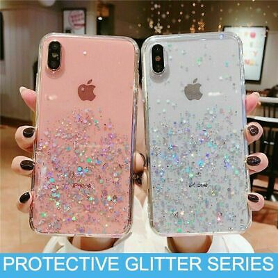 Glitter Case Cover For iPhone 6 6s Plus 7 8 X XS MAX 10 XR 11 Pro Max Clear