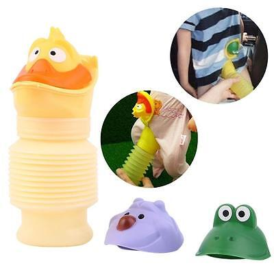 Portable Travel Urinal Cartoon Car Toilet Pee Potty Training Unisex Kids QY