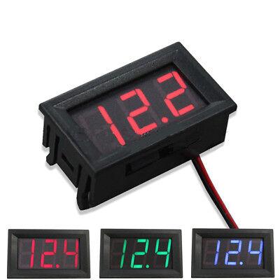 Hot 2-wire Mini Dc 5-30v Voltmeter Led Panel 3-digital Display Voltage Meter