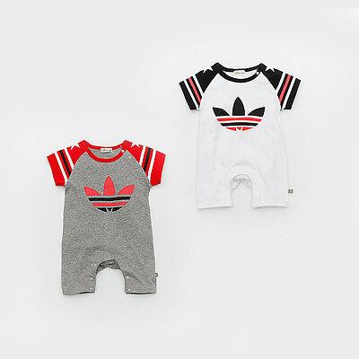 2019 Newborn Baby Boy Girl Floral Romper Short Sleeve Cotton Jumpsuit Bodysuit Floral Short Sleeve Romper