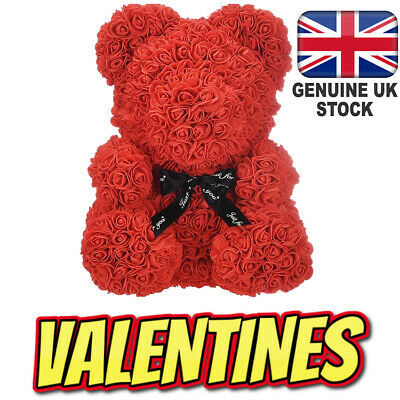 Rose Flower Teddy Bear Doll Valentine Wedding Birthday Nursery Xmas Gift Him/Her