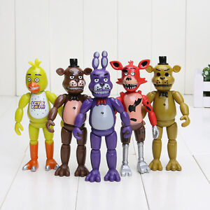 Five nights at freddys fnaf action figures set bonnie chica foxy