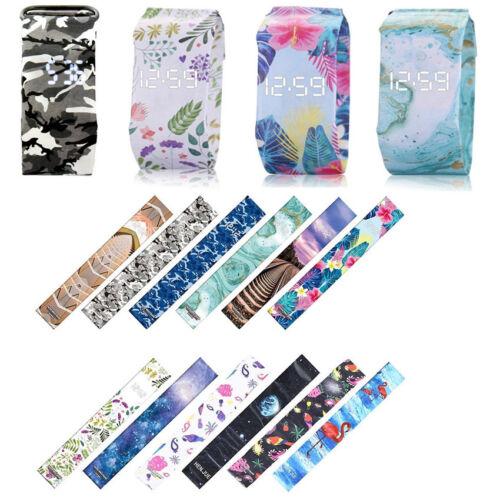 Novelty Waterproof Digital LED Paper Strap Watch Wrist Watch For Girl Boy Unisex