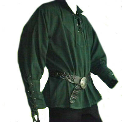 Medieval Renaissance Costume For Men Long Sleeve Stand Collar Cosplay Clothing
