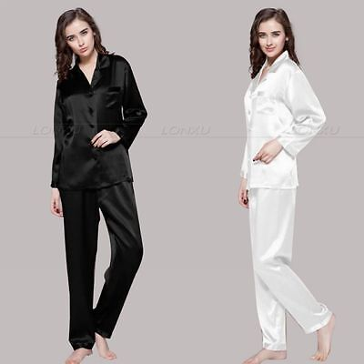 Womens ladies Silk Satin Pajamas Set Pajamas for women Set Sleepwear__Great Gift - Pyjamas For Adults