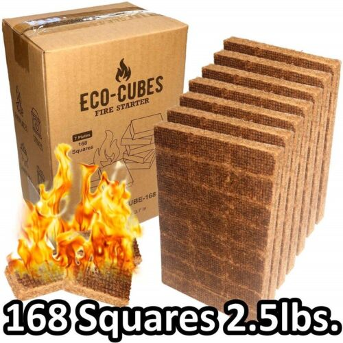Fire Starter Cubes 168 Pieces Eco Squares Lighter for Charcoal Grill Fireplace