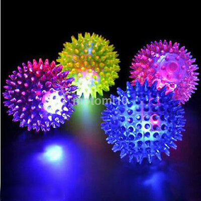 New Flashing Light Up High Bouncing Balls Hedgehog Ball Toys Novelty Kid Toys Ca