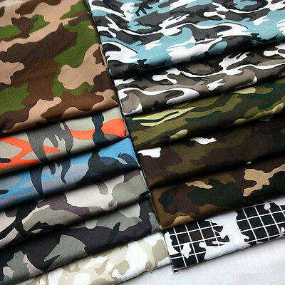 Camouflage Military Army Prints Camo Fabric Cotton Like Clothing Quilting (Army Camouflage Fabric)