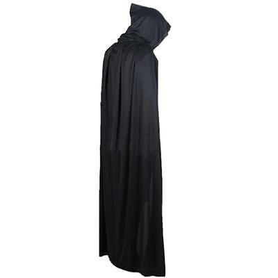 Death Halloween Costume (Halloween Costume Devil Long Tippet Cape Theater Prop Death Hoody Cloak)