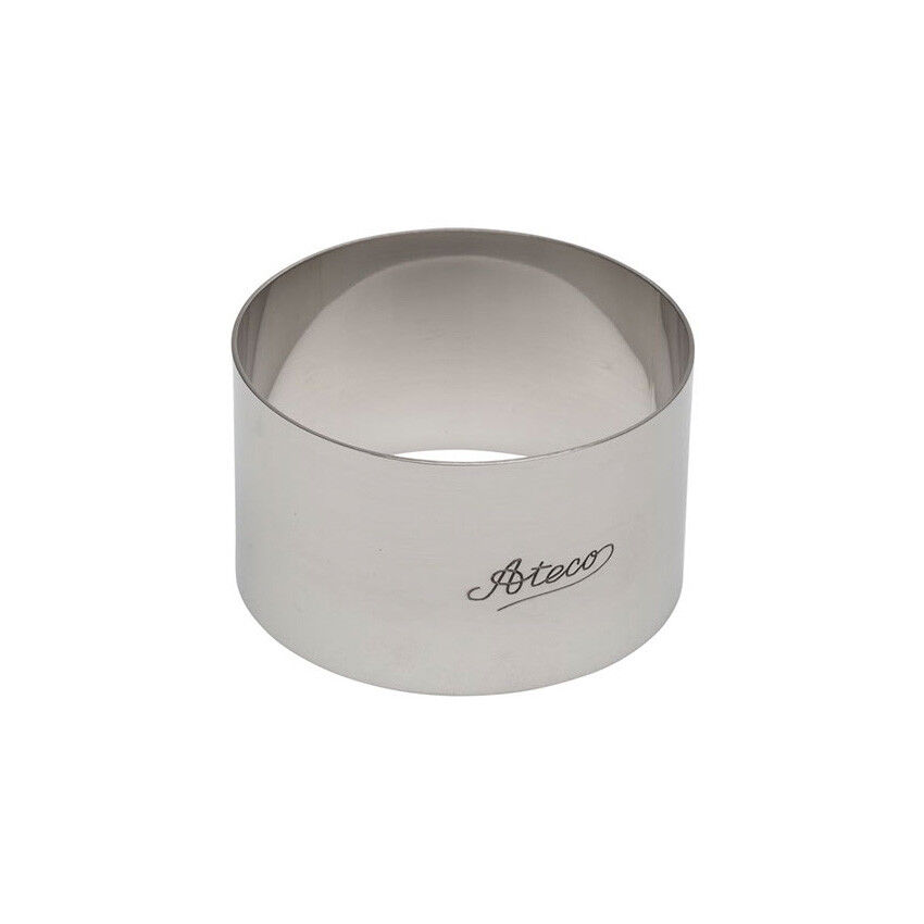 "O/'Creme Stainless Steel Round Cake Ring 3-1//8/"" x 2/"" High"