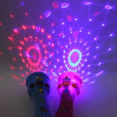 Plastic LED Light Up Flashing Projecting Torch Shape Kids Children Funny Toy New - Plastic Shapes
