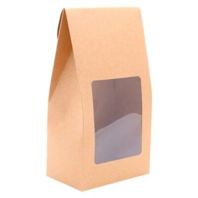 Window Treat Boxes (4 x 20cm Party Kraft Treat Box Wedding Party Favours Window Boxes Bags)