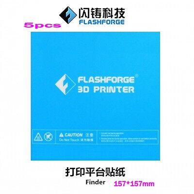 5pcs Flashforge 3D printer print sticker build plate tape for Finder
