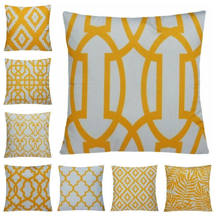 "20x20"" Orange Yellow Pillow Case Sofa Car Waist Throw Cushio"