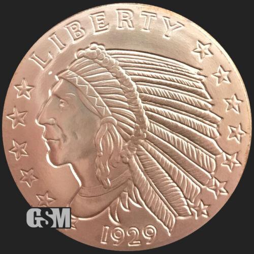 2 oz Copper Round - Incuse Indian