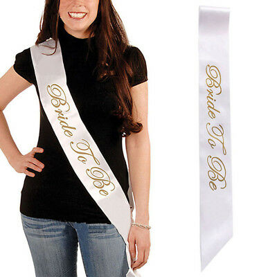 Fashion Bride to Be DIY Bridal Sash Bachelor Wedding Belt Party Decor Accessory