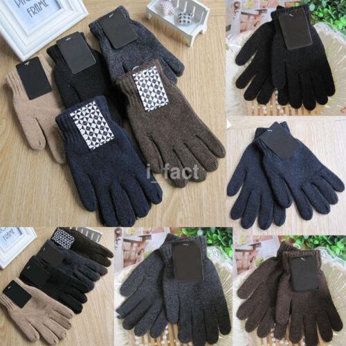 Fashion Autumn & Winter Men's Male Knitted Gloves Warm Wool Monochrome Gloves US