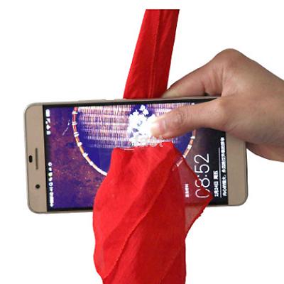 HOT Professional Red Silk Thru Phone Close-Up Street Magic Trick Show Prop Tools