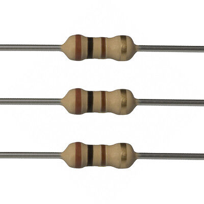100 X 100 Ohm Carbon Film Resistors - 14 Watt - 5 - 100r - Fast Usa Shipping