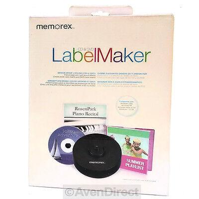 Free Label Maker - New Memorex CD DVD Label Maker Kit Professional Design [FREE USPS Priority Mail]