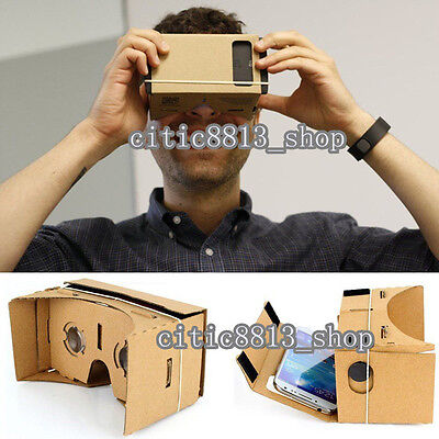 Quality~ Cardboard 3D VR Virtual Reality Glasses For iPhone/Google Nexus/Samsung