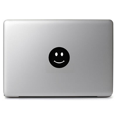 Smiley Face Decal Sticker for Apple Macbook Air & Pro Laptop Trackpad Cup Bottle
