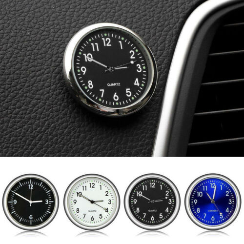 Mini Luminous Car Auto Air Vent Stick-On Clock Interior Quartz Analog Watch New