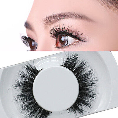 1Pair New Black Luxurious False Eyelash Natural Thick Eye Lashes BeautyTool US