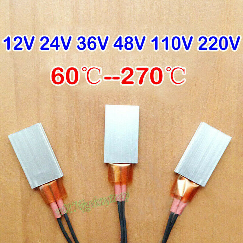 12V 35*21mm Constant Temperature PTC Heating Element Thermostat Heater Plate  BW