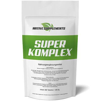 Glucosamin Komplex Tabletten (580 Tabletten SUPER KOMPLEX  3000mg / Glucosamin + Chondroitin + MSM + Vitamin C)