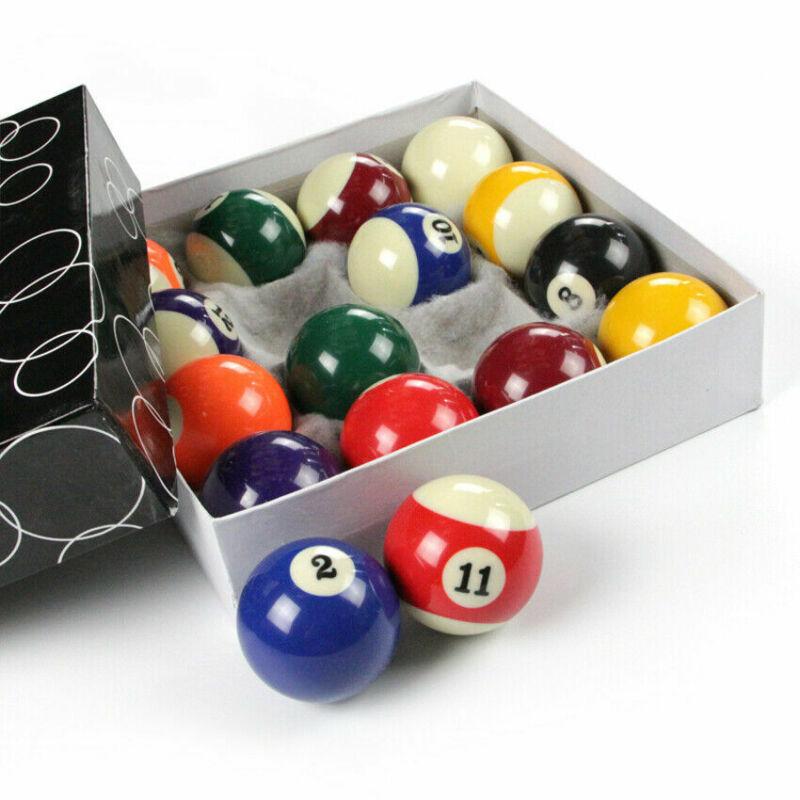 """1"""" 16 Pcs Miniature Small Mini Pool Balls Set Table Billiard"""