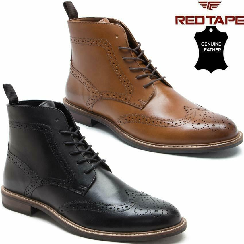 REDTAPE SOUTHILL MENS BLACK FORMAL LACE UP SMART SHOE SIZES