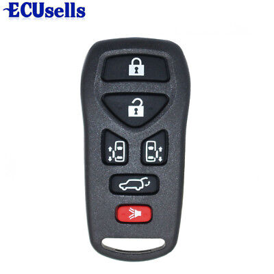 New For Nissan Quest 2004 -2010 Keyless Entry Remote SHELL CASE 6 Buttons + PAD