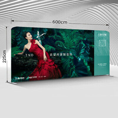 New 20ft Trade Show Displays Booth Backdrop Wall Pop Up Stand With Custom Print