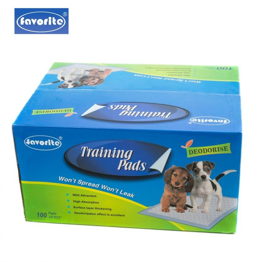 "100 Packs Floor Protection Dog Puppy Housebreaking Training Pads, 22"" x 23"""
