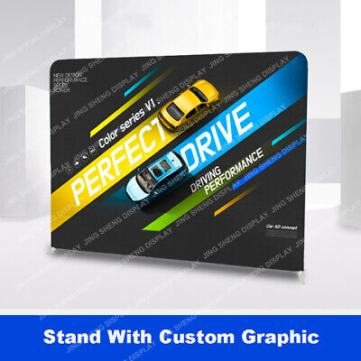 10ft Straight Fabric Back Wall Trade Show Display Booth Popup Stand Custom Print