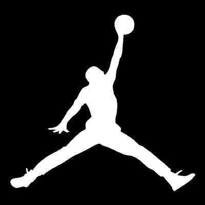 air jordan basketball vinyl decal car truck window sticker