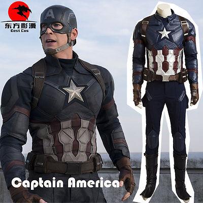 DFYM Hot Captain America 3 Steve Rogers Cosplay Costume Custom Size Full Suit - Captain America Costume Cosplay