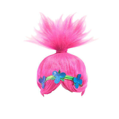 26x32cm Kids Trolls Funny POPPY WIG Pink Dream Works Cosplay Party Trolls Props - Wigs Funny