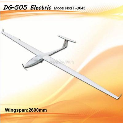 DG-505 Electric Glider 2600mm ARF with Motor Prop Spinner Esc Servo RC Sailplane