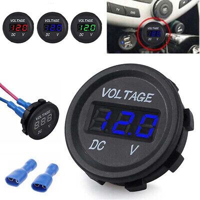Car Motorcycle Boat Dc Voltmeter Led Voltage Indicator 12v 24v Waterproof Meter