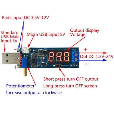 Dc-dc Usb Step Updown Power Supply Module Boost Buck Converter 5v To 3.3v12v