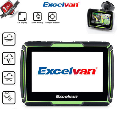 Navigationsgerät GPS 4,3 Zoll LCD Display Motorrad Navigation 8GB Navi Bluetooth