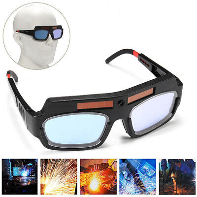 Practical Solar Powered Auto Darkening Welding Glasses Mask Helmet Eyes Goggle