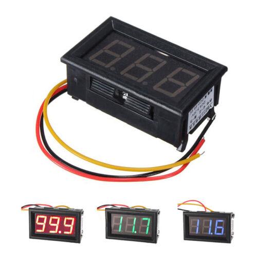 DC 3 Wire LED Digital Display Panel Volt Meter Voltage Voltmeter Car Motor 1PCS