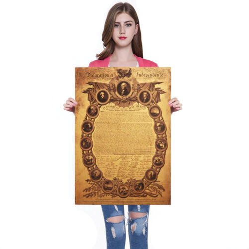 Declaration of Independence America Poster Replica Large US history