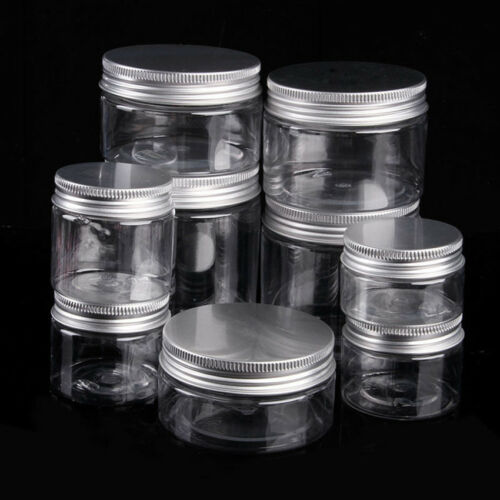 30ML-250ML Clear Plastic Can Tin Pot Jar Container Empty Bottle For Cookie Nut C