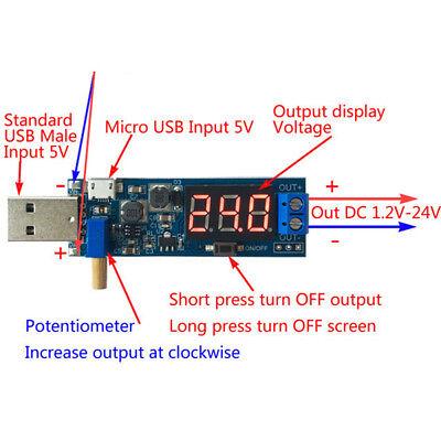 Micro Usbusb Step Updown Power Supply Module Adjustable Boost Buck Converter