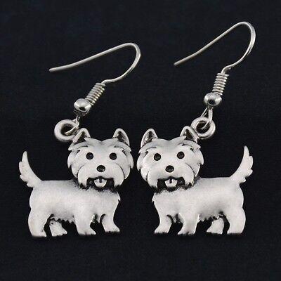 WESTIE EARRINGS - NEW  (West Highland White Terrier)