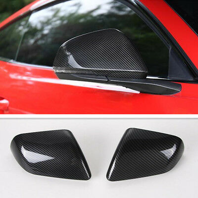 - For Ford Mustang 2015-2019 Carbon Fiber Style Side Rearview Mirror Cover Trim